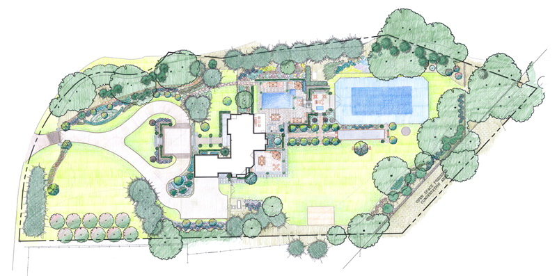 The art of master planning rock spring design group llc for Residential site plan